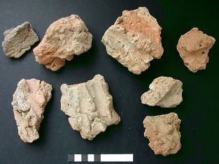 fired clay fragments